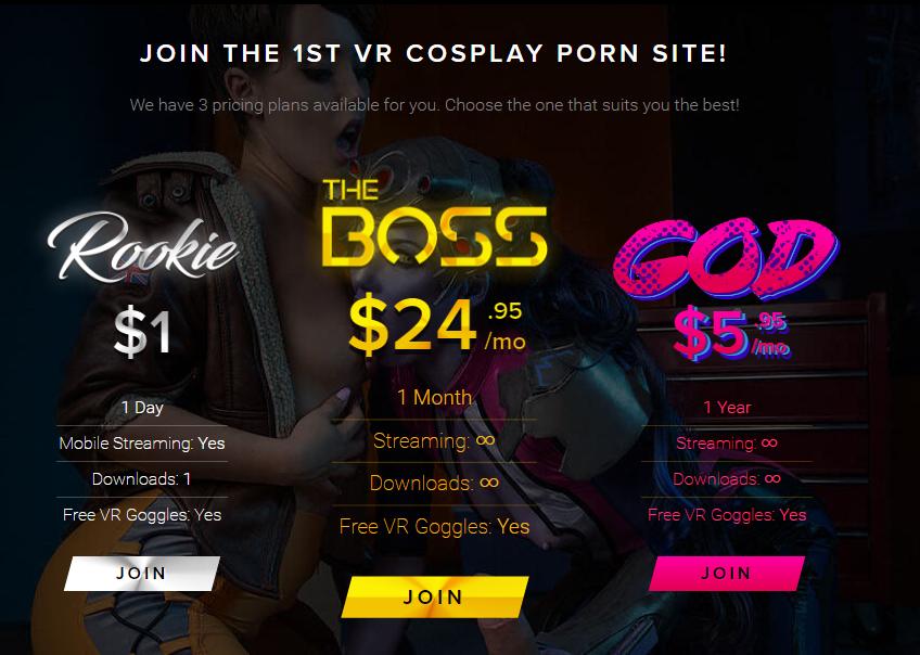 VRCosplayXの料金表