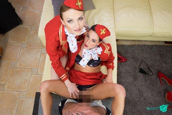Czech VR 148 - Horny Flight Attendants