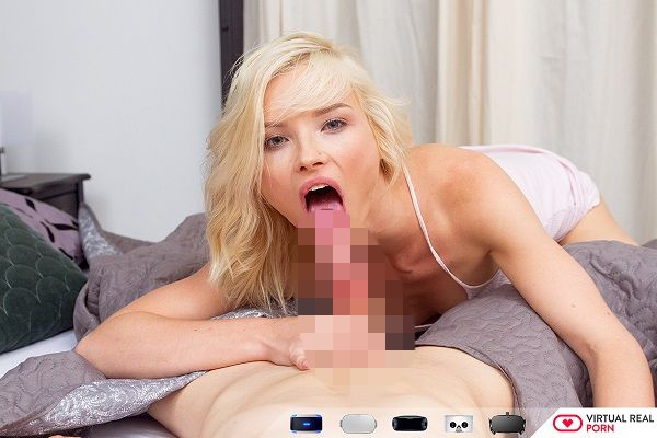 Morning wood cute blonde does anal