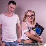 Student affair blonde ukrainian girl hardcore