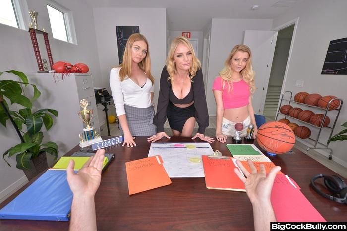 Marie McCray, Rachael Cavalli, and Riley Star deal with a Bully Coach